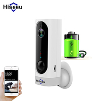 Hiseeu IP Camera Rechargeable Battery wifi indoor Home Security Camera wireless PIR Motion Alarm battery CCTV camera wi fi