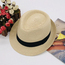 Summer Beach Straw Sun Hats for Kids Fedora Jazz Cap Panama For Women Men Couple Visor Chapeu