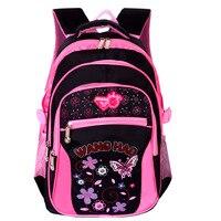 2016 nuovo stile di studenti della scuola primaria sacchetto di scuola delle ragazze bambini zaino bella spalla viaggi mochila grado 1-9 zainetto