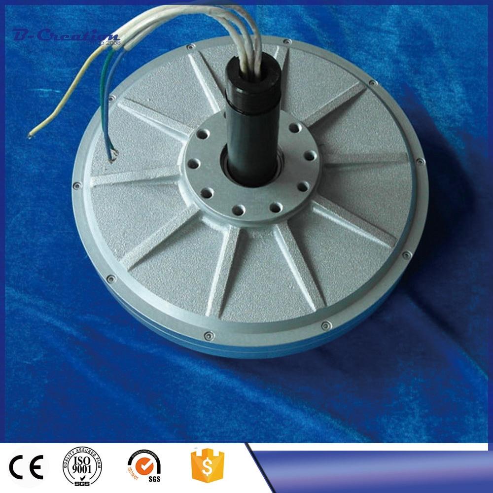 350RPM 500W Coreless Alternator, Three-Phase Low RPM Permanent Magnet Generator 200w three phase permanent magnet synchronous alternator single shaft generator 600r min ac24v 12 v 1pc