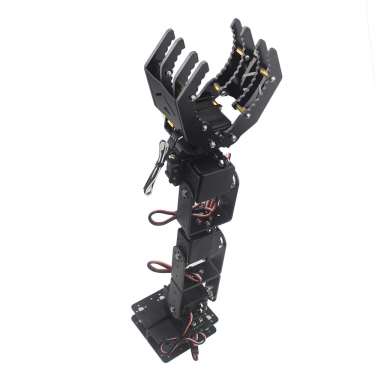 6DOF Robot Mechanical Arm Hand Clamp Claw Manipulator Frame Robotic for Arduino DIY 6dof robotic aluminium robot arm clamp claw