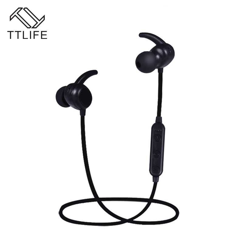 TTLIFE Bluetooth Earphone V4.1 Sport Wireless Headset Stereo In-ear Earbud with Mic Noise Cancelling For IPhone Xiaomi Android ttlife q26 stereo noise cancelling earphone ultra mini car calls bluetooth wireless headset with mic for iphone 7 android psp
