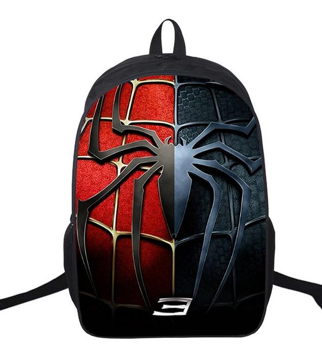 2018 Kids Backpack Spiderman Children School Bags For Boys Orthopedic Child Boy  BookBag Knapsack Mochila
