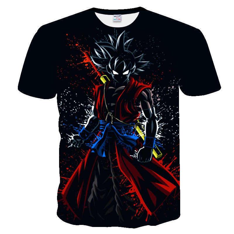 Dragon Ball Z Футболка Мужская Супер Саян битва Сон Гоку черная Стрекоза футболка для отдыха летняя 3D печать xxxtentcaion футболки мужские