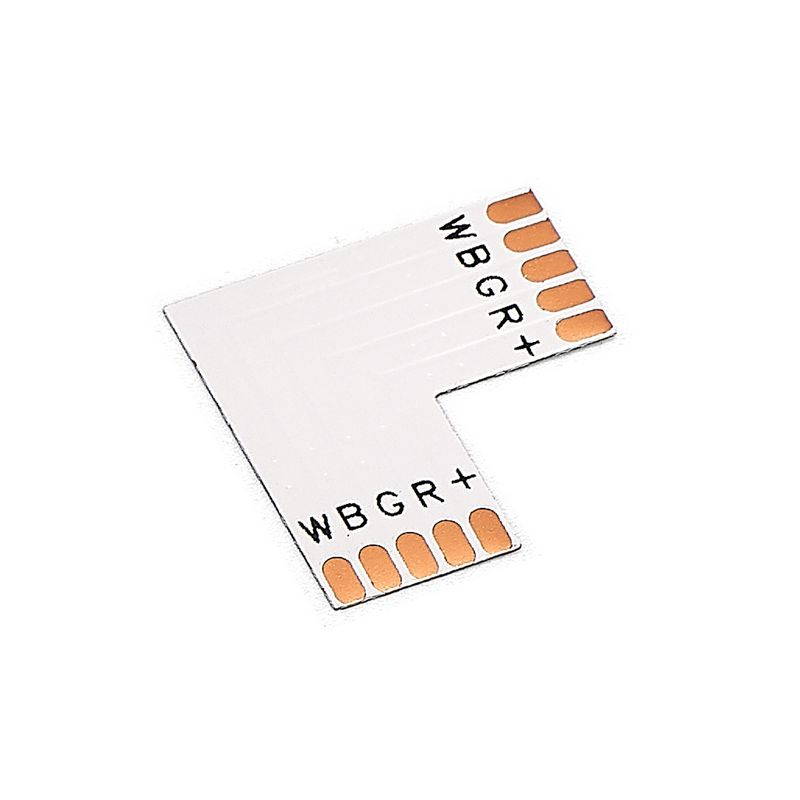 5pcs RGBWW LED Strip 10mm 5 Pin Cross T L Shape Corner Connectors For SMD 5050 RGBW LED Strip Lights