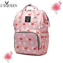 Mommy Shoulder Diaper Bag Flamingo Maternity and Child Bag Large Capacity Outgoing Baby Backpack Handbag Mommy Stroller Bag