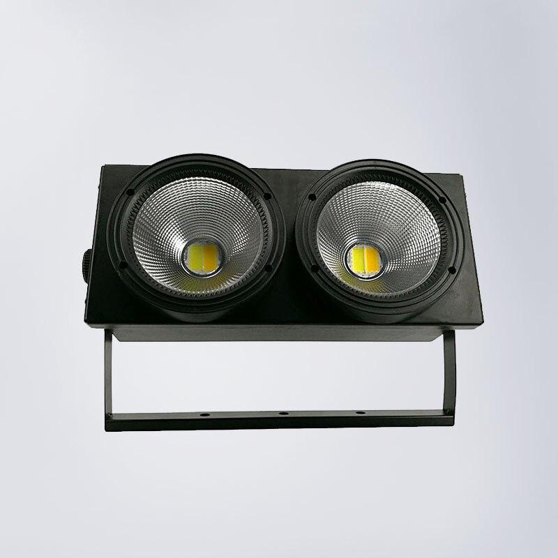 LED 2x100 w LED COB lumière DMX effet d'éclairage de scène LED lumière Par, blanc froid et blanc chaud pour les oeillères d'audience dans Dj/musique