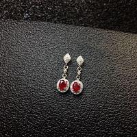 Рубин серьги стержни природного и реального рубин 925 серебро Fine jewelry