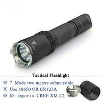 Tactical flashlight linterna led xm l2 lanterna self defense light militar lamp waterproof 18650 battery Hunting electric torch