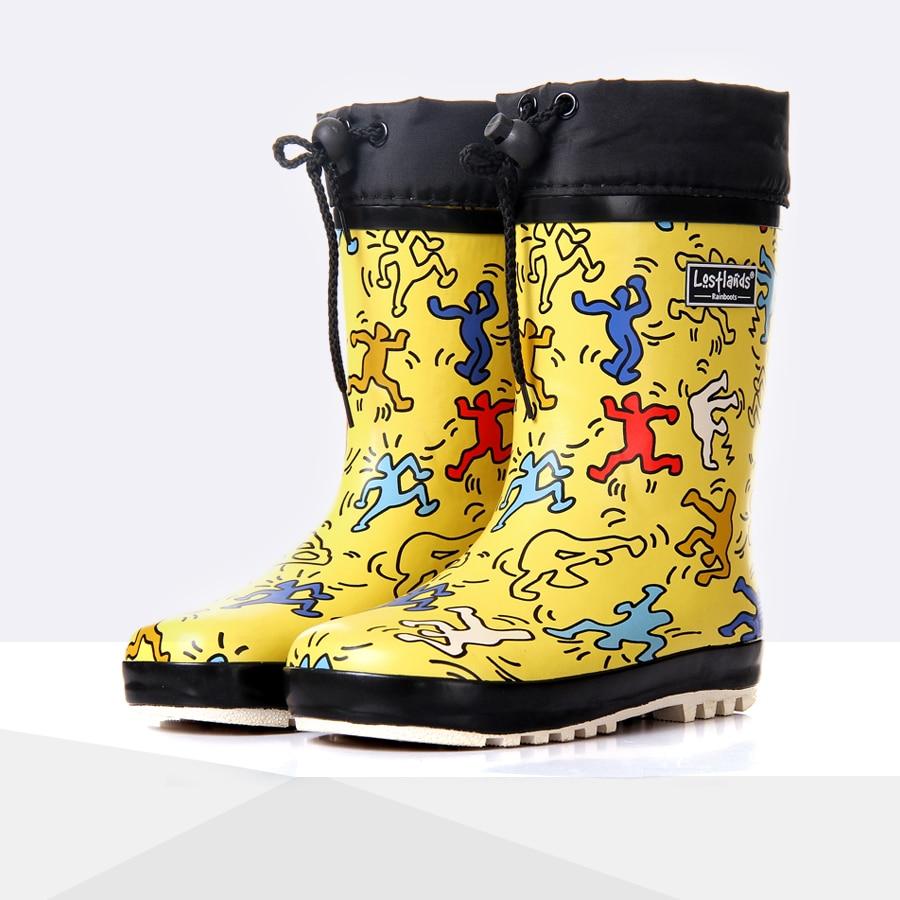 1659e292189 Cartoon Children Rain Boots Spring Autumn Winter Boys Girls Shoes Baby Kids  Rainboots Non-slip Waterproof Wellington