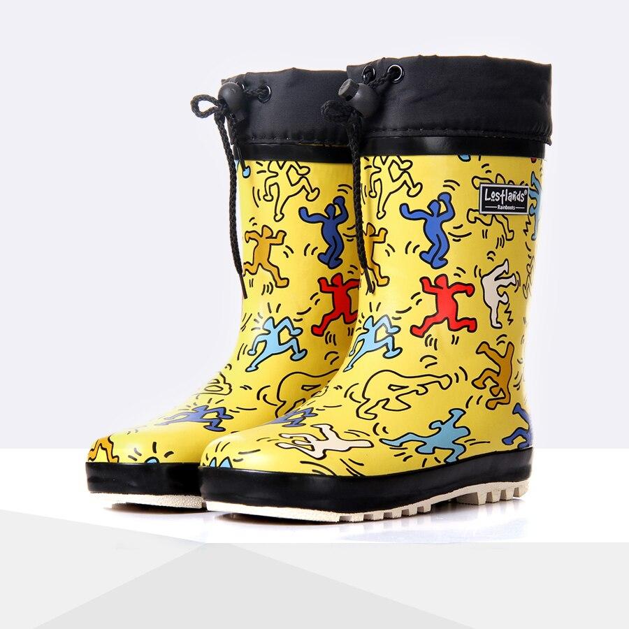 Cartoon Children Rain Boots Spring Autumn Winter Boys Girls Shoes Baby Kids Rainboots Non slip Waterproof Shoes Wellington Boots