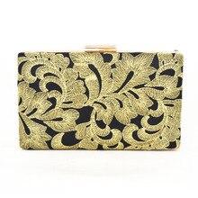 Pfingstrose Chinesischen Stil Floral Handtasche Kette Umhängetasche Gold Stickerei Ethnische Taschen Abend Handtasche-partei pochette Geldbörse 819