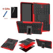 Case for Samsung Galaxy Tab S4 10.5 SM-T830 T835 T837 Tablet Amor Color Grain TPU+PC Heavy Duty Hybrid Rugged Rubber
