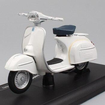 Juguete para niños, mini, a escala 1:18, maisto lentegio Vespa 125 GT 1966, scooter, motocicleta, vehículos de fundición a presión, motocicleta, modelos de juguete para coleccionable