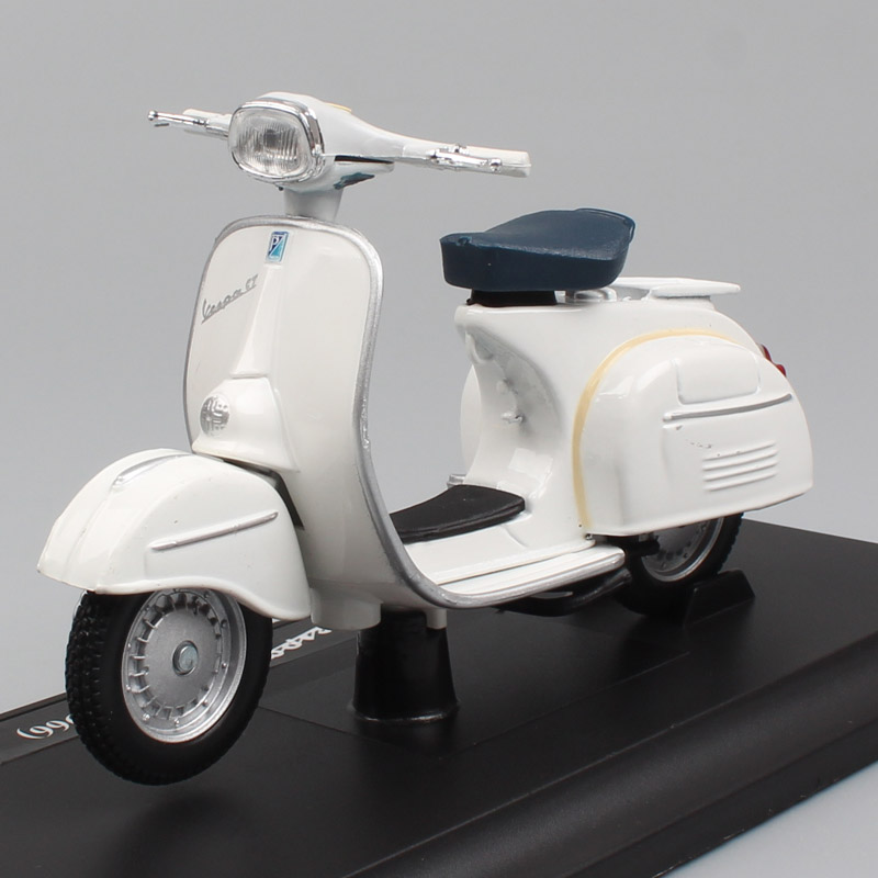 Childs Mini 1:18 Scale Maisto Piaggio Vespa 125 GT 1966 Scooter Motorcycle Diecast Vehicles Motorbike Toy Models For Collectible
