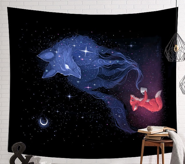 Image 3 - CAMMITEVER Space Starry Sky Starlight Tapestry Wall Hanging Multifunctional Tapestry Boho Printed Bedspread Cover Yoga Mat-in Tapestry from Home & Garden