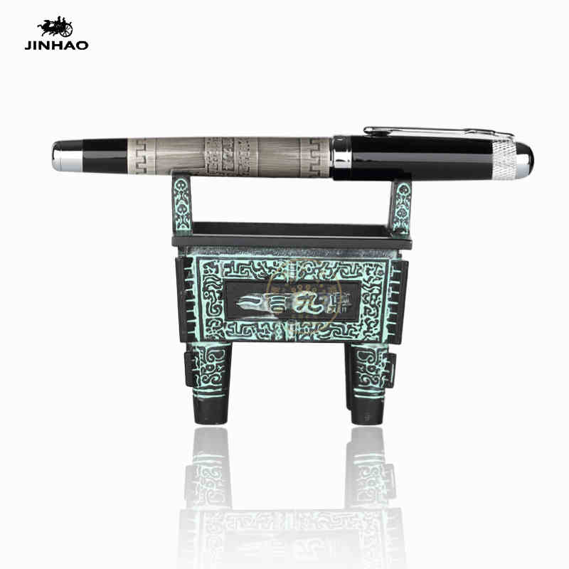 Jinhao 189 Chinese Culture YI YAN JIU DING 0.7mm Roller Ball Pen Luxury Metal Gift Pen Ballpoint Pen for Office Free Shipping wholesale sales promotion ballpoint pen jinhao 1683 gold roller ball pen steel metal dragon gift silver send a refill yy12