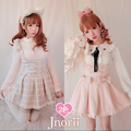 Princess sweet lolita BOBON21 Exclusive original design Detachable Bow Dream plaid  Braces skirt Two color options   B1118