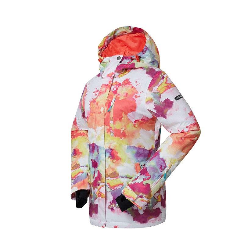 Clever 2018 Gsou Schnee Skianzug Outdoor Winddicht Wasserdicht Tragen Weibliche Jacke Luftdurchlässigkeit Anti-strahlung Skianzug Mild And Mellow Skijacke