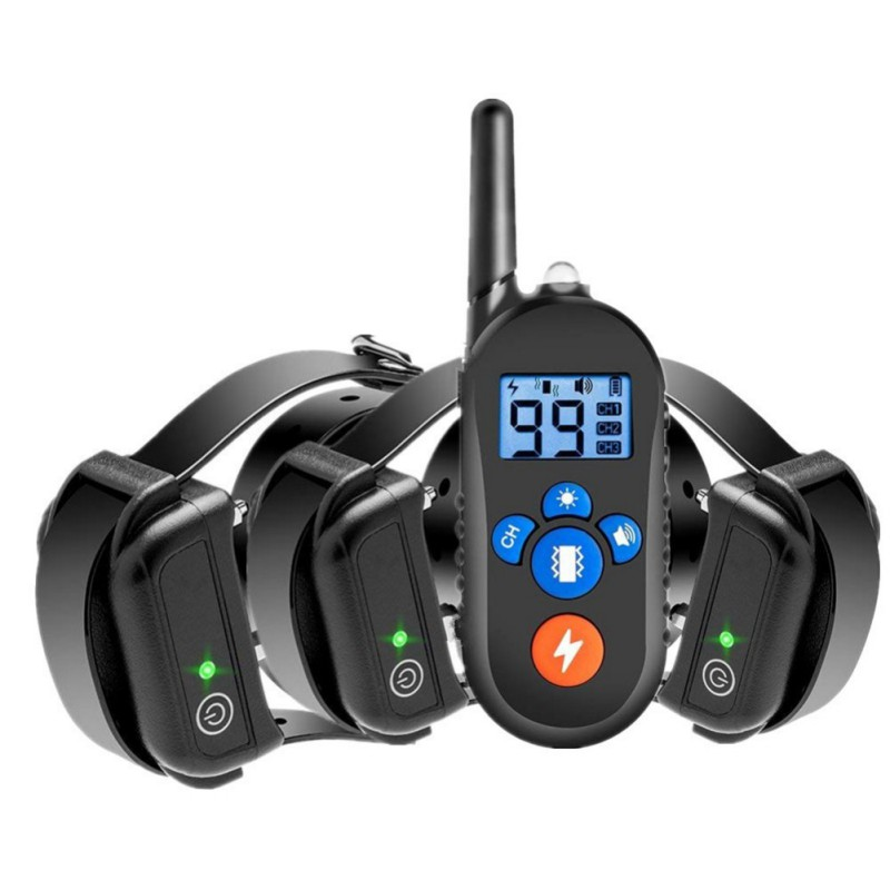 Dog-Training-Collar Remote-Control Electric Rechargeable Waterproof With Original