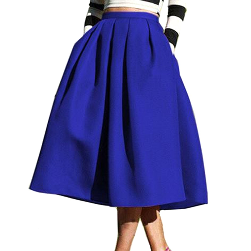 Popular Navy Midi Skirt-Buy Cheap Navy Midi Skirt lots from China ...