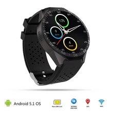 2016 neue kw88 smartwatch android 5.1 mtk6580 quad core 1,39 zoll bluetooth smart watch aufruf 2.0mp kamera herzfrequenz sim telefon