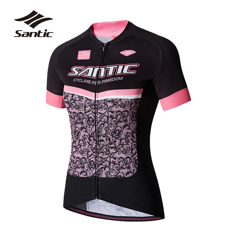 Santic Summer Cycling Jersey Women Short Sleeve Road Mountain Bike Jersey Breathable Quick Dry Bicycle Jersey MTB Cycling Shirt santic cycling clothing women short sleeve breathable cycling jersey sets padded road mountain bike shorts 2018 bicycle clothes