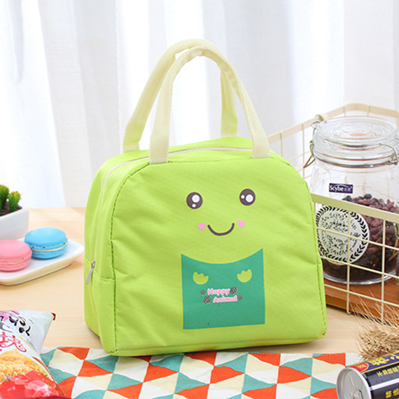 Cartoon Picnic Portable Bag Lunch Insulated Tote Thermal Cooler Food Bags Canvas Beach Outdoor Bag For Camping Hiking Women Kids