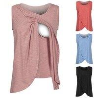 Топы для кормления грудью Топы для кормящих мам беременных для женщин; большие размеры для беременных Грудное вскармливание летняя футболка груди жилет для грудного вскармливания одежда