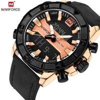 NAVIFORCE Luxury Brand Men Fashion Sports Watches Man Leather Army Military WristWatch Men's Waterproof Quartz Date Clock