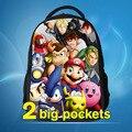 2016 nova moda 3D super mario doraemon dos desenhos animados mochila saco de escola das crianças best selling super mario bros crianças sacos