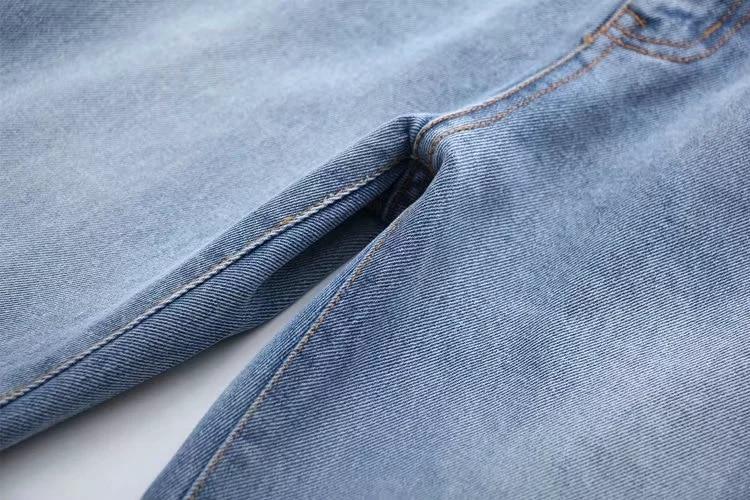 Harem Casual Mediados Cintura Moda Mujeres Darker De Lavado Pantalones Alta Jeans blue zRqBx5