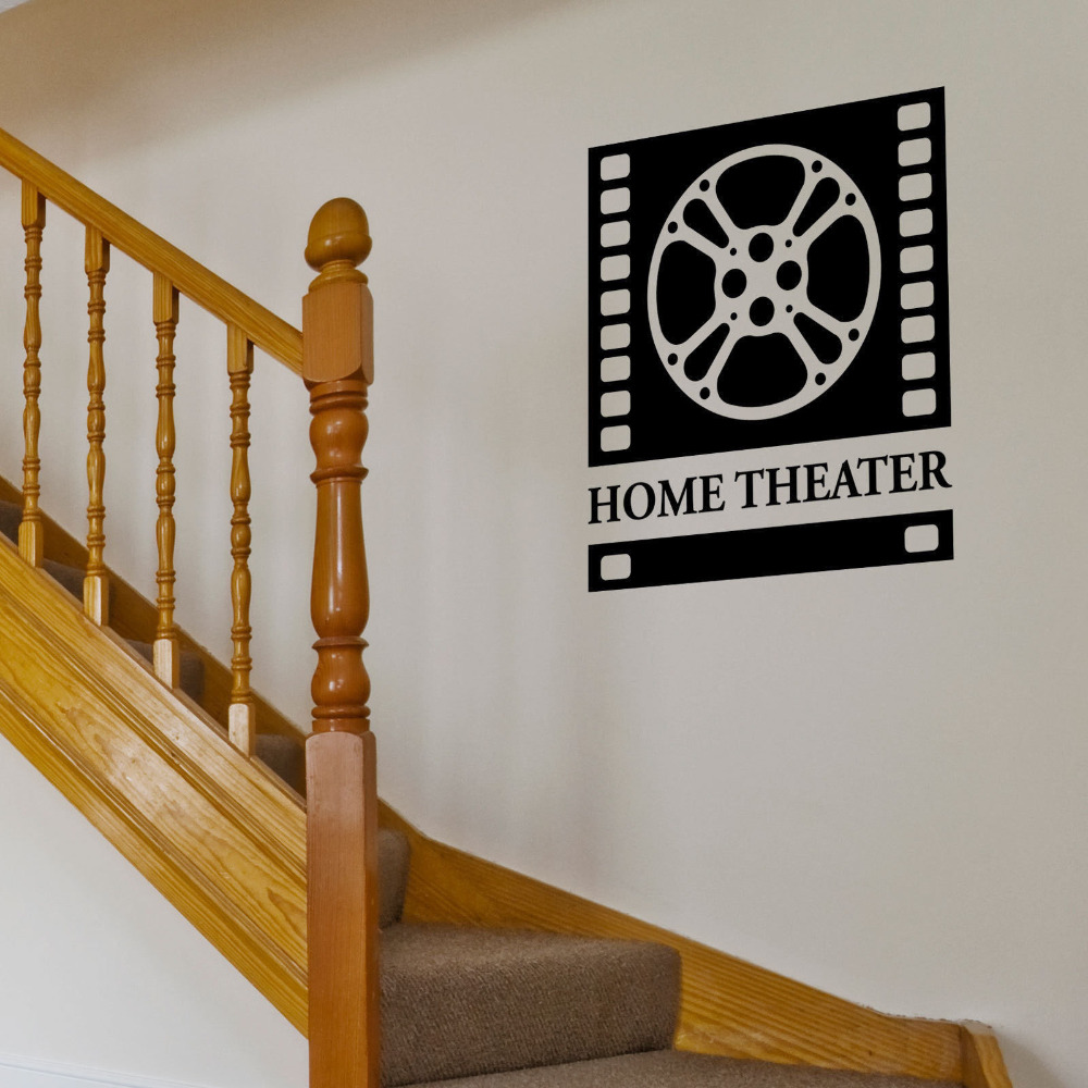 MOVIE HOME THEATER SIGN Vinyl Wall Art Decals Sticker-in