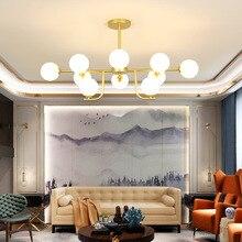 цены Nordic LED chandeliers living room suspended lamp loft luminaires dining room bedroom lighting fixtures glass ball hanging light