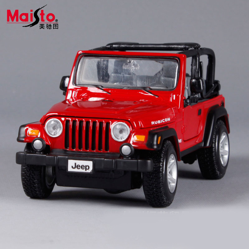 maisto jeep wrangler 124 scale alloy models metal diecasts car toys high quality collection kids toys gift