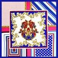 100% Square Foulard Pañuelo Seda Mujeres Bufanda de Seda de la Impresión Bolsa de Ropa Decoración de La Bufanda de Regalo de La Señora Carrera Mujeres Bufandas