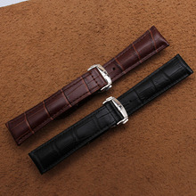 new hot 20mm 22mm High Quality Cowhide leather watchband straps bracelet for brand wristwatches men accessories