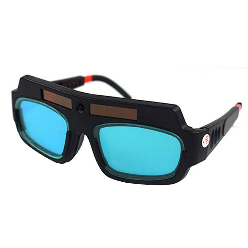 Neue Solar Powered Auto Verdunkelung Schweißen Maske Helm Goggle Schweißer Gläser Arc PC Objektiv Große Brille Für Schweißen Schutz
