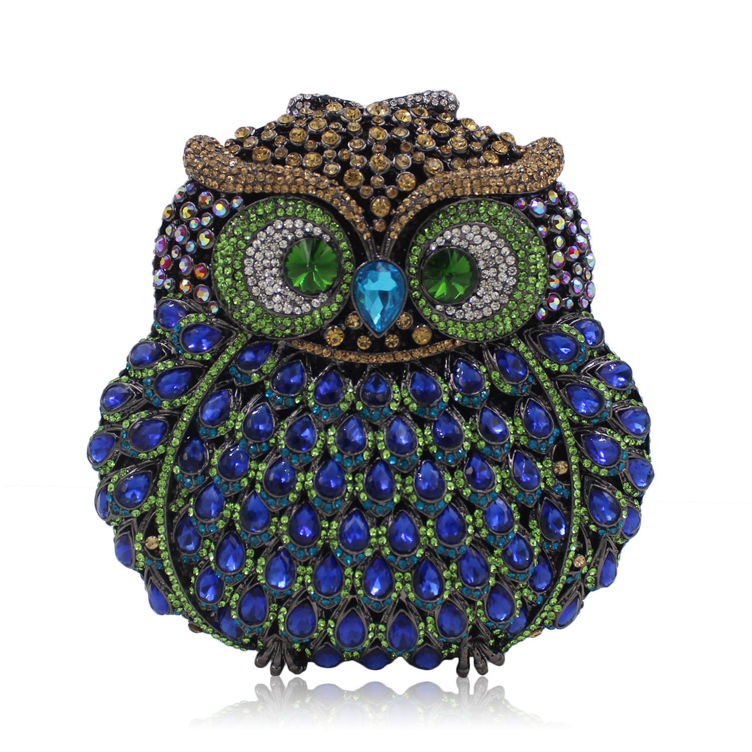 Luxury Diamond Women Owl Bag Female Bling Bling Crystal Hooters Shape Evening Bags Small Mini Handbag borse da donna the hooters berlin