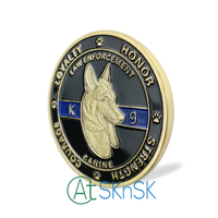 wholesale Fashion medal souvenir Protector of Law Enforcement Guardians of Night Unite States Police dog K9 challenge coins Gift