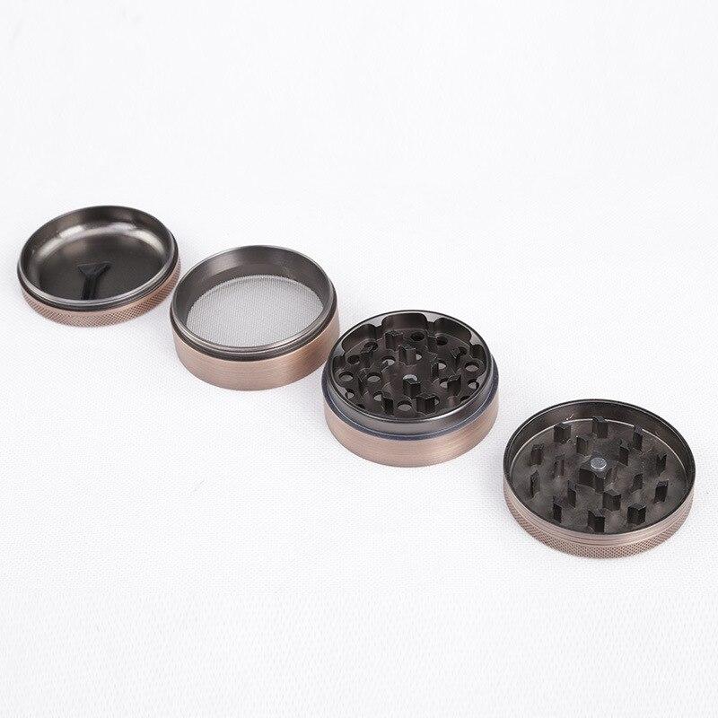 4 Layer Aluminium Alloy Diameter 63mm Bronze Grinder Hookah Weed Tobacco Herb Grinder 630