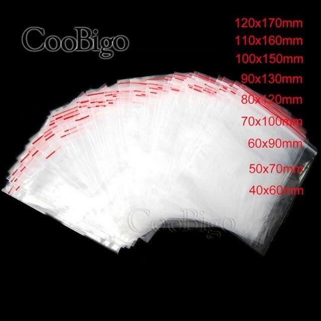 100 pcs 0.05 milímetros de Espessura 0.06 milímetros 0.07 milímetros Sacos de Jóias Ziplock Com Fecho de Bloqueio Reclosable Limpar Jóias Artesanato Sacos de Comida saco de armazenamento