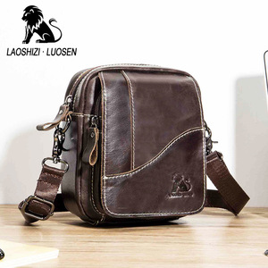 Image 1 - Sac à bandoulière en cuir véritable masculin, mini sac à bandoulière vintage masculin, sac à rabat, sac à bandoulière naturel
