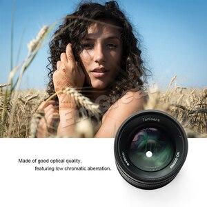 Image 4 - 7 artesanos de 55mm F1.4 lente de cámara de enfoque Manual de retrato de gran apertura compatible con montaje en EOS M Canon e mount Fuji fx amount
