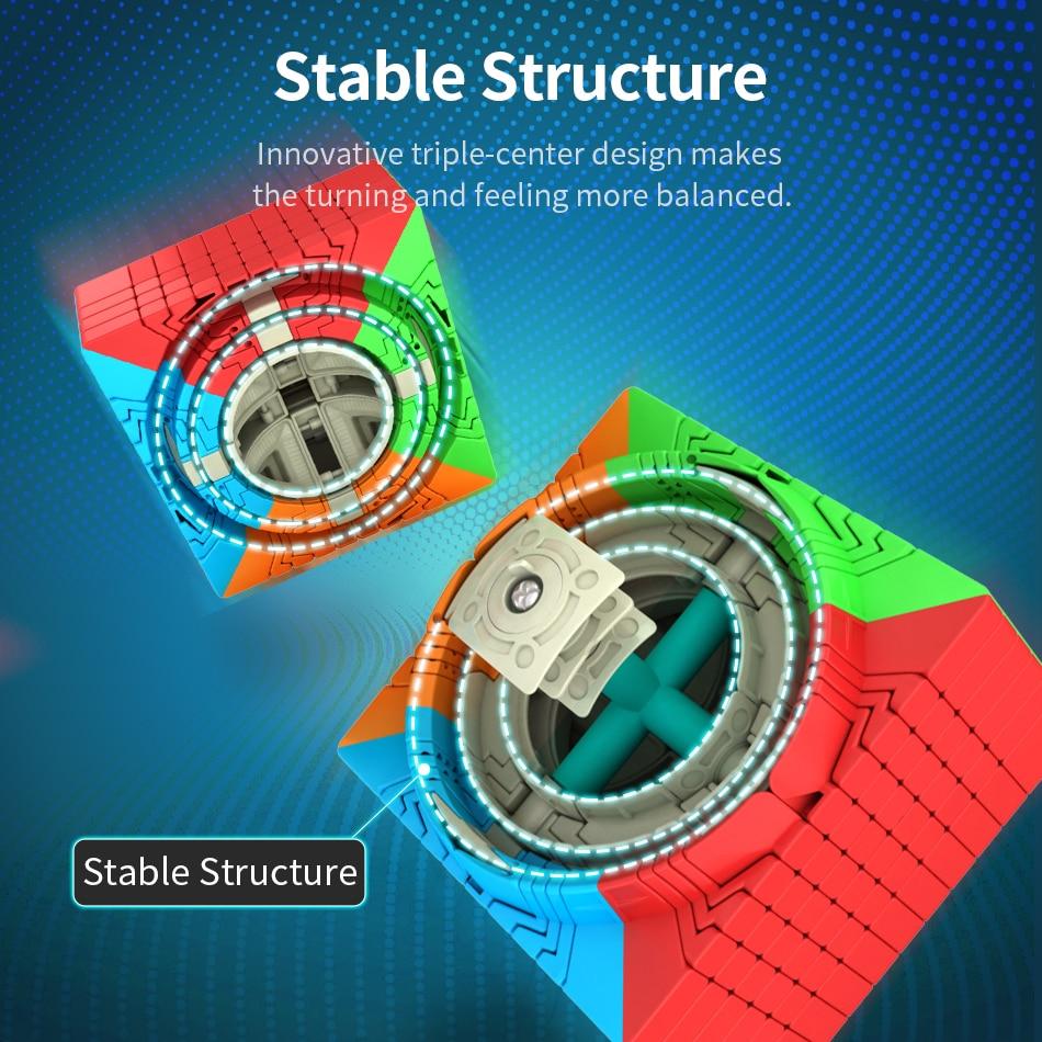 Moyu Meilong 10x10 Cube de vitesse magique Puzzle couleur Mofangjiaoshi 10x10x10 84mm néo Cubo Magico givré Surface jouets pour enfants - 5