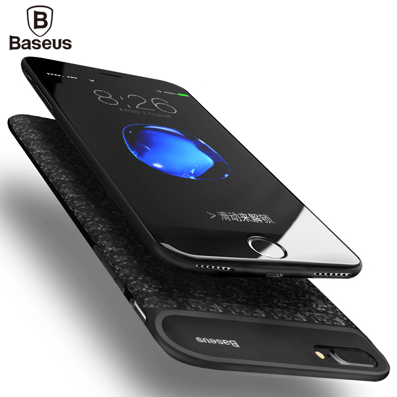 bilder für Baseus 5000/7300 mAh Ladegerät Fall Für iPhone 7/7 Plus Ultra Slim Power Bank Fall Externe Backup Ladekoffer abdeckung