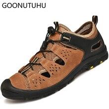 2019 new style fashion men's sandals casual breathable mesh shoes male summer shoe beach sandal man flat outdoor sandals for men недорого