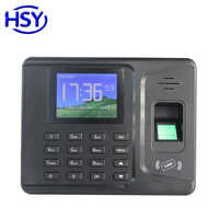 Dispositivo de reloj de reconocimiento de grabación de empleados RFID con asistencia de tiempo de huella digital biométrica con Software libre