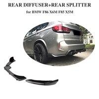 Углеродного волокна заднего бампера Диффузор для губ для BMW F85 X5 F86 X6 X5M X6M M Sport внедорожник 4 двери 2014 2015 2016 2017 2018