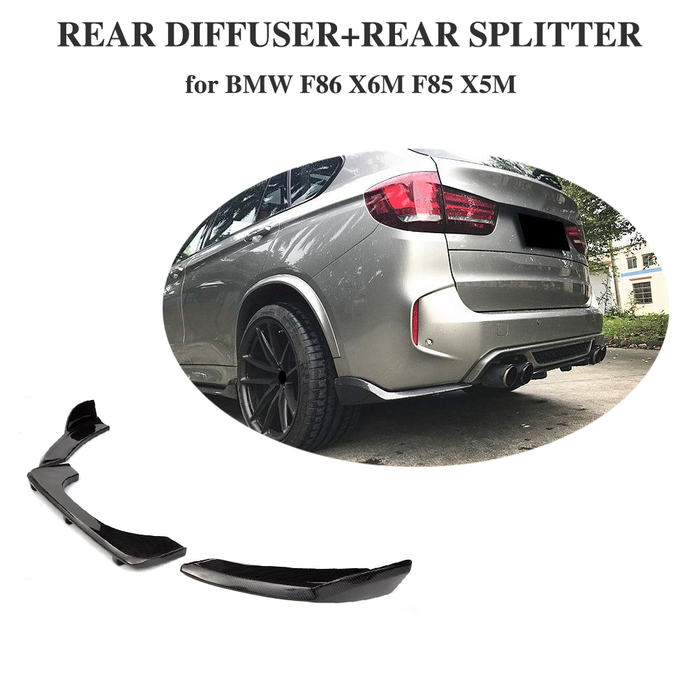 Carbon Fiber Rear Bumper Diffuser Lip For BMW F85 X5 F86
